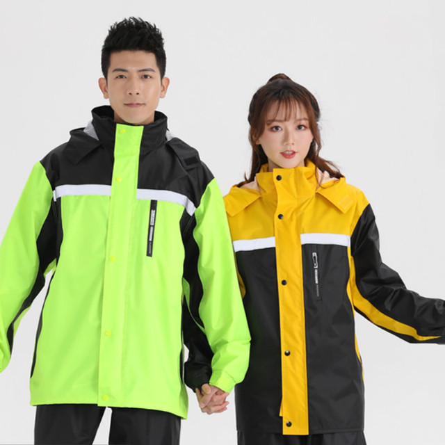 Yellow Raincoat Women Jacket Rain Pants Suit Split Rain Coats Men Motorcycle Poncho Thickened Waterproof Suit for Fishing Gift