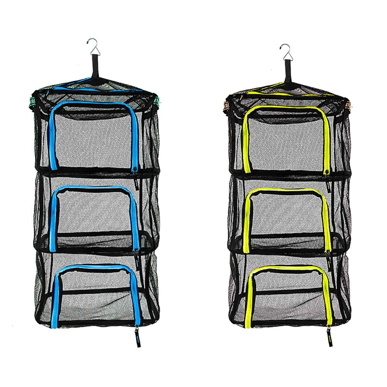 QHYXT Red de Secado de Camping Malla Colgante Al Aire Libre Tendedero Plegable Organizador de Almacenamiento Multiprop/ósito para Picnic//Barbacoa//Vajilla//Platos//Comida//Verduras//Fruta//Ropa