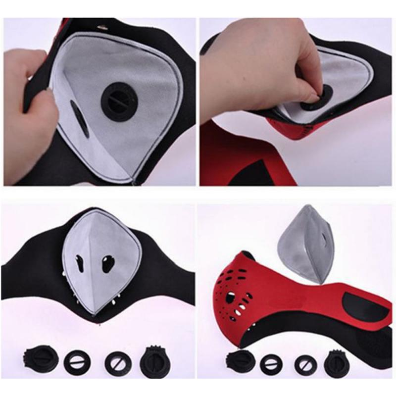 Cycling Anti-fog Mask Liner With Activated Carbon Mask Accessory Filter Anti-fog Dust-proof Breathable Shield Mouth Mask Unisex