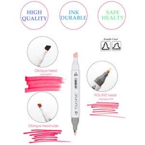 Набор маркеров TOUCHFIVE 168, цветные маркеры для рисования манги, набор с двойной головкой, арт-поставщик, ручка для рисования, маркер для рисован...