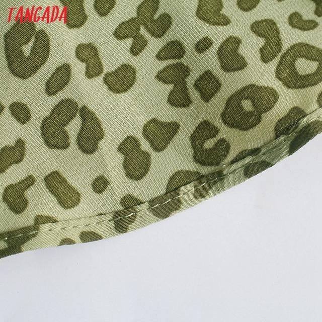 Tangada 2021 Fashion Women Leopard Print Strap Dress Sleeveless Backless Female Party Dress 5Z111 5