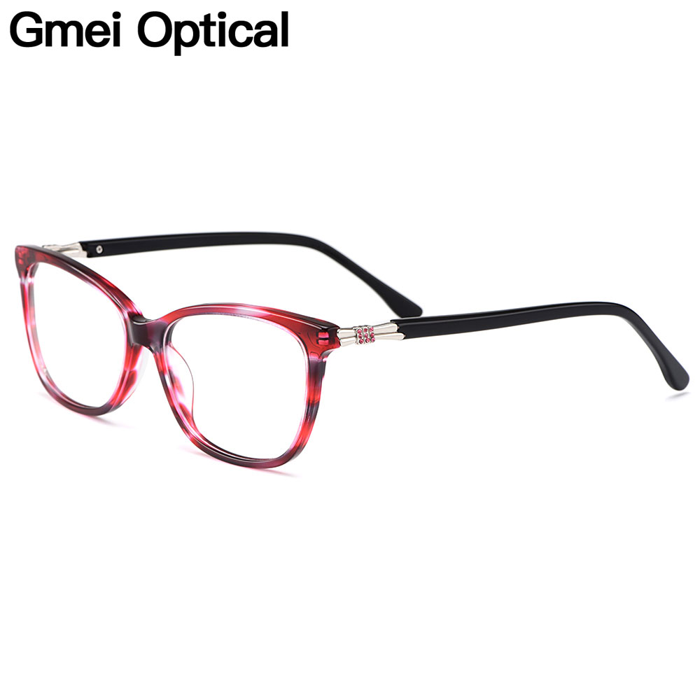 Gmei Optical Acetate Women Glasses Frame Female Oval Prescription Eyeglasses Myopia Optical Frames Full Rim Eyewear M22001
