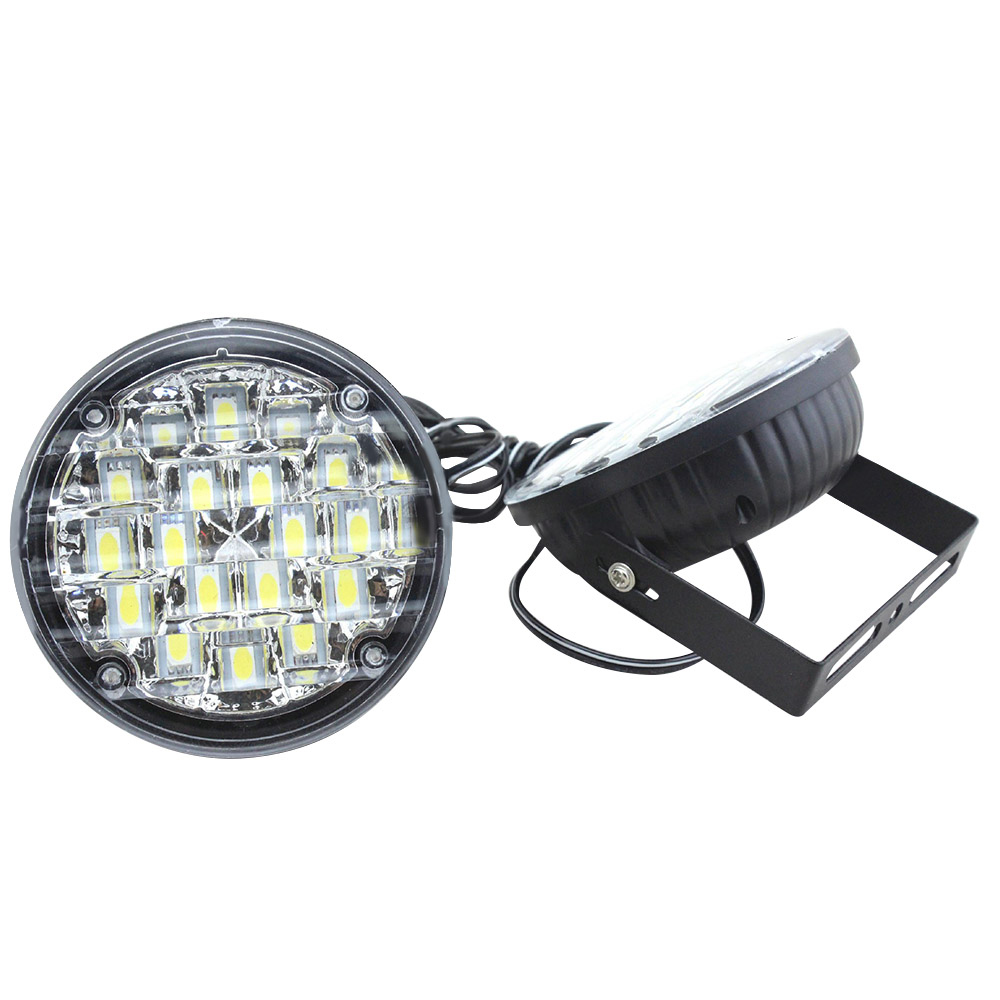 12V 18 LED DRL Round Daytime Running Light Car Fog Lamp Driving Lamp For Truck SUV ATV Motorcycle Bike High Quality