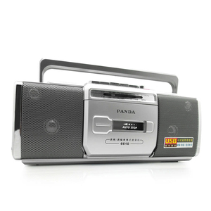 Image 3 - PANDA 6610 Tape Recorder Radio Small Dual Speaker Tape Learn English Playe Two Band Radio