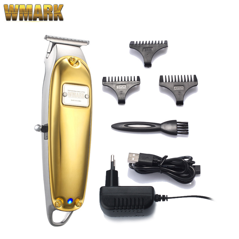WMARK NG-2021 All-metal Golden Sliver Cord/cordless Detail Triimer With T-blade Detailer USB Charge 1400mAh High Speed Motor