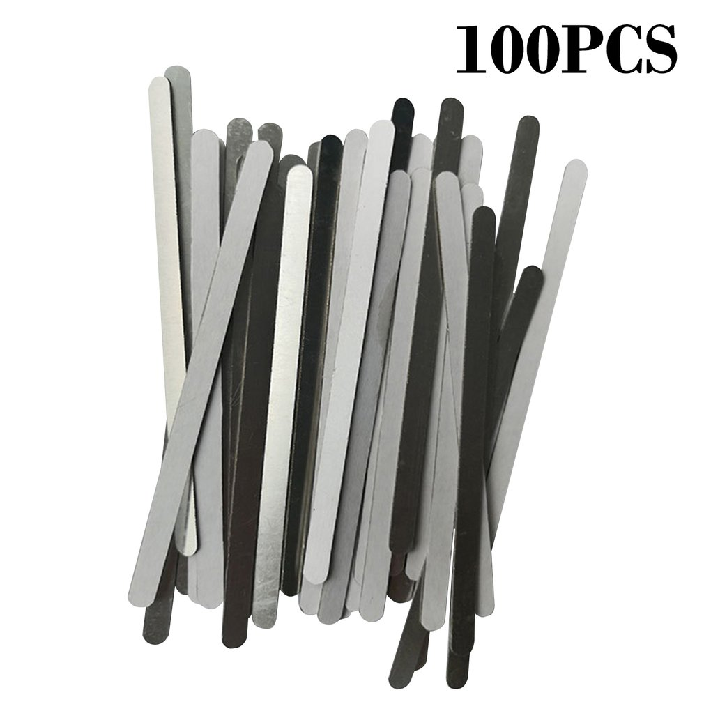 100 Pcs Aluminum Nose Bridge Fixed Aluminum Strip For Mask  DIY Making Mask Protection Mouth Mask Accessories