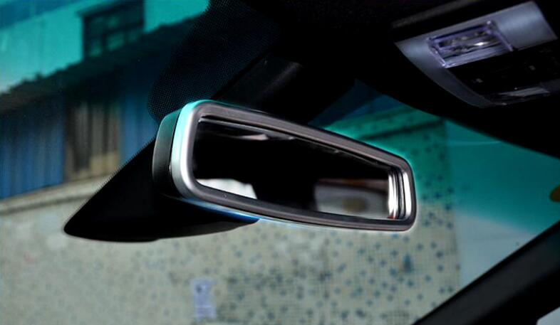 1PC Silver ABS Chrome Car Interior Rearview <font><b>Mirror</b></font> Frame Cover Trims <font><b>For</b></font> <font><b>Ford</b></font> <font><b>Explorer</b></font> 2016-2018 Car Styling <font><b>Accessories</b></font> image