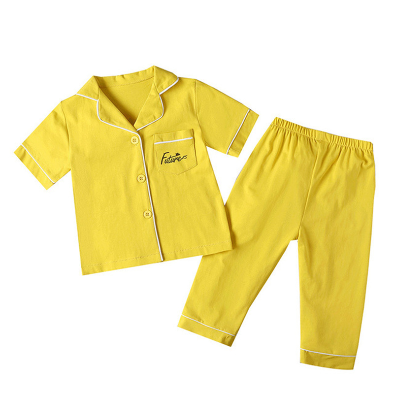 SAILEROAD Children's Pajamas For Girls Pyjamas Short Top+Long Pants Kids Pijama Infantil Boys Sleepwear Child Home Wear Clothes 5