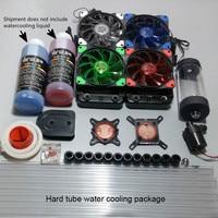 Water Cooled Radiator CPU Display Card Water Cooled Head Pump Water Tank Computer Water Cooled Hard Tube Set