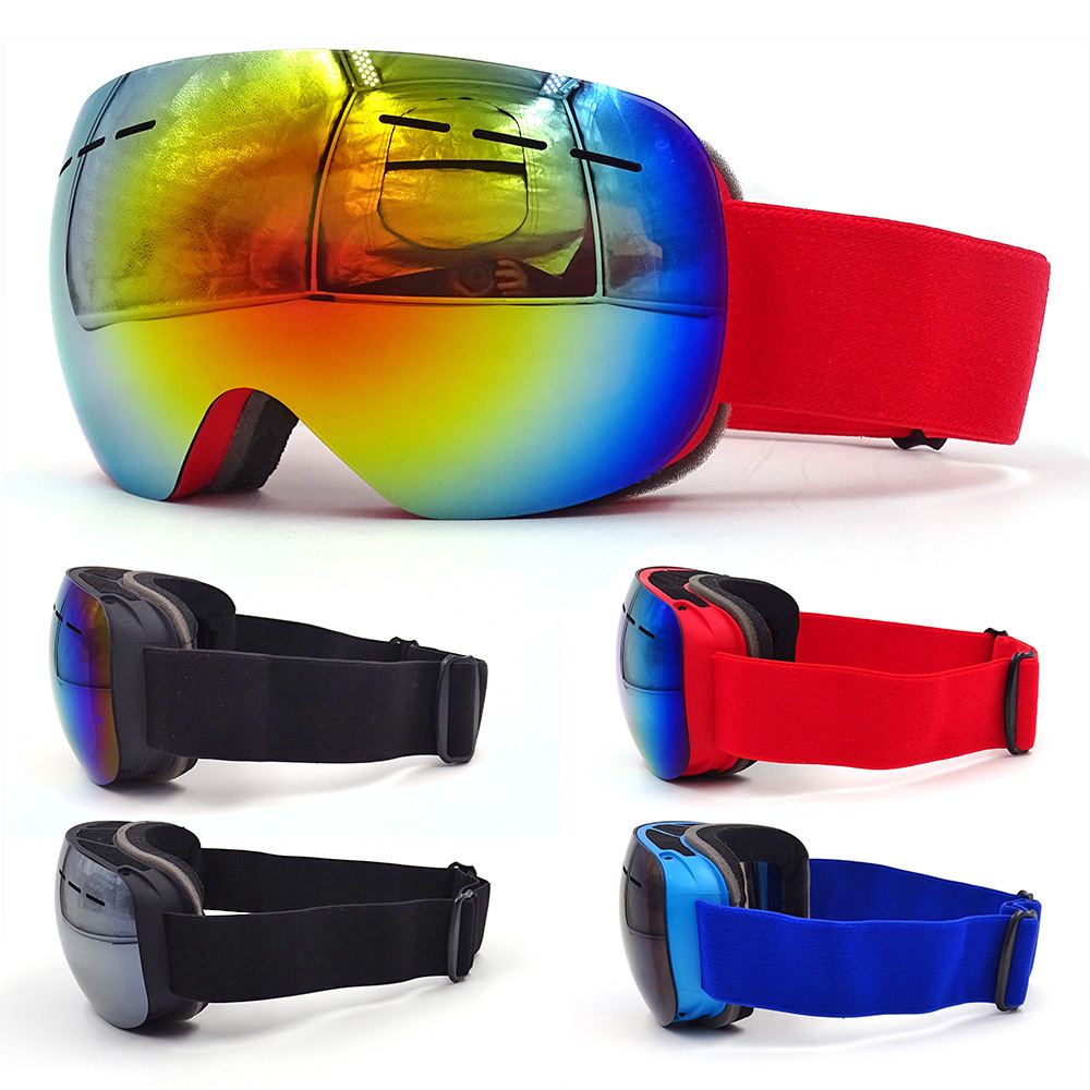 Women Ski Goggles Anti-Fog UV400 Double Layers Snowboard Ski Glasses Men Gogles Case Snowmobile Sport Winter Skiing Eyewear