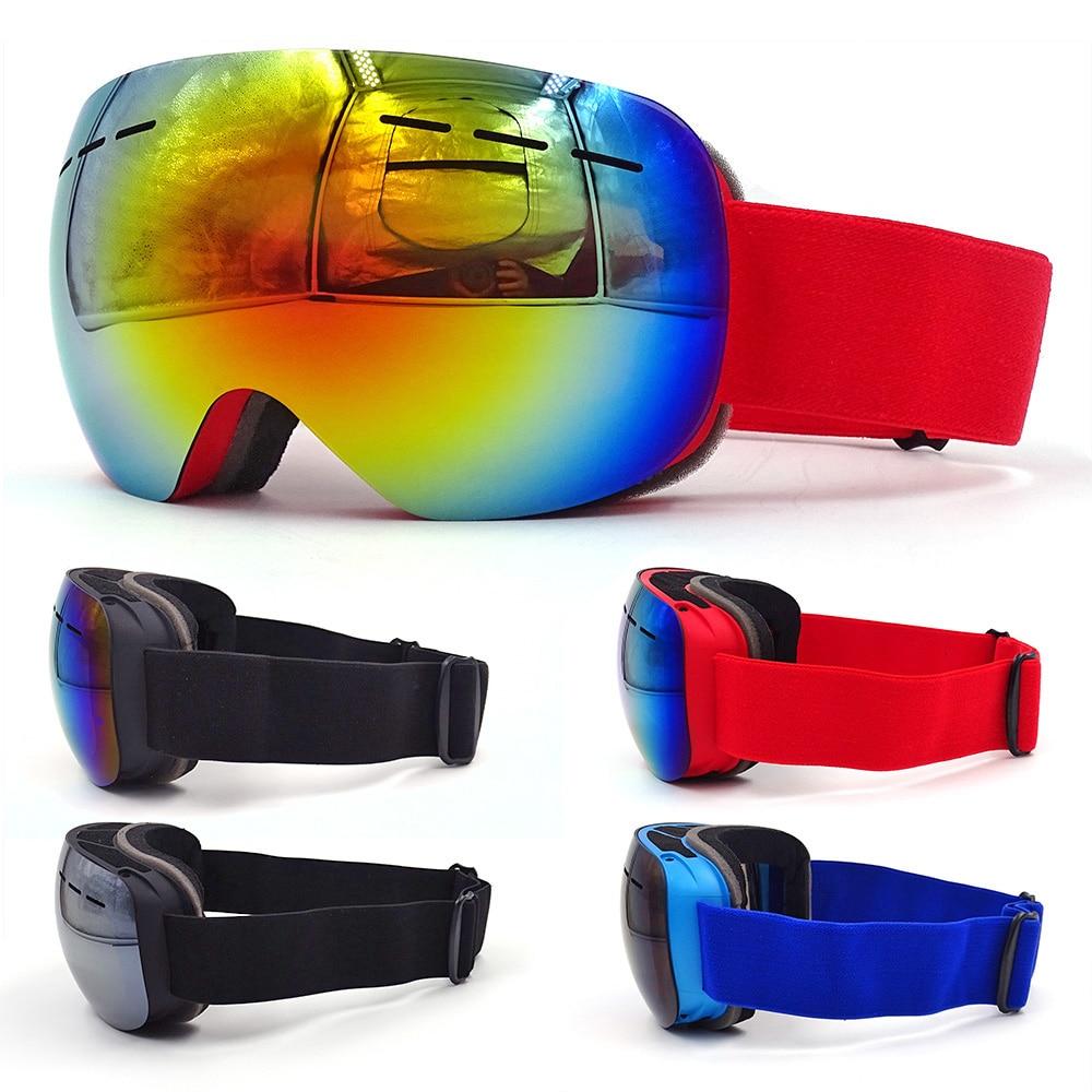 Women Ski Goggles Anti-Fog UV400 Double Layers Snowboard Ski Glasses Men Gogles Case Snowmobile Sport Winter Skiing Eyewear