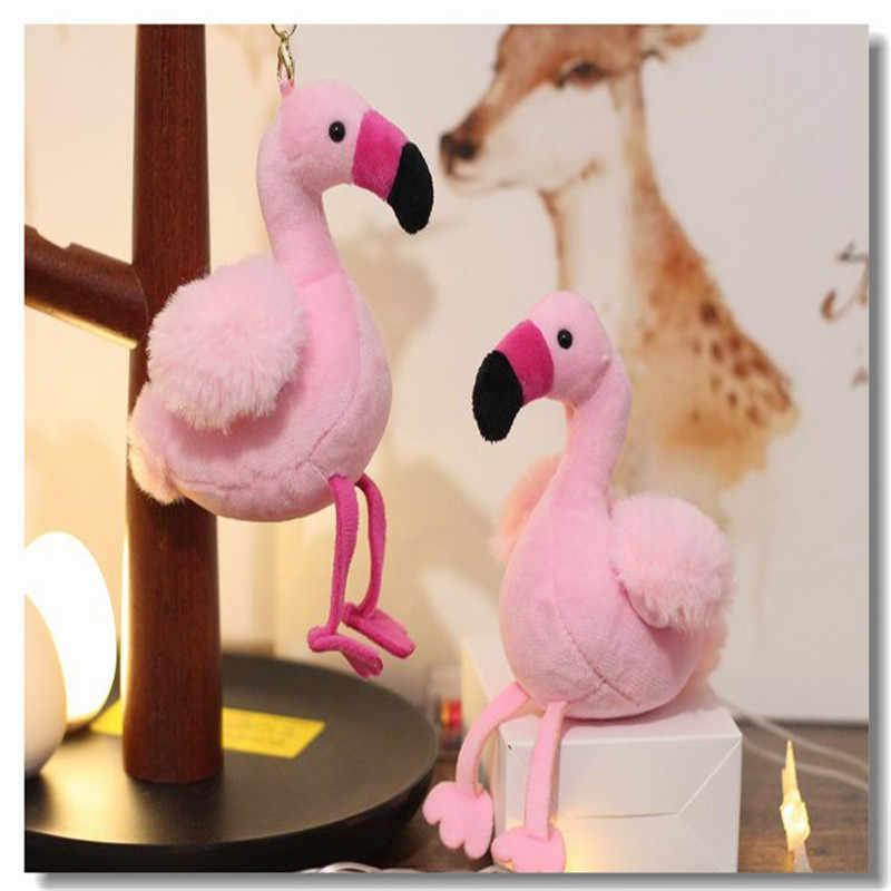 Saco De Pele Mulher Encantos Flamingo Chaveiro Pompom fofo Pom Chaveiros Carro Pingente de Chave Anel Titular Jóias de Natal Aleatório