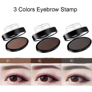 3 Colors Eyebrow Powder Seal  Lazy Quick Eyebrow Stamp Waterproof Long lasting Natural Shape Brow Stamp Eyebrows Powder Palette 3pcs set waterproof eyebrow natural shape brow stamp powder palette