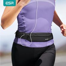 ESR ריצה חגורת מותניים חבילת אוניברסלי קל משקל ספורט להקת פאוץ עם יציאת אוזניות עבור iPhone X ריצה להקת המותניים פאוץ
