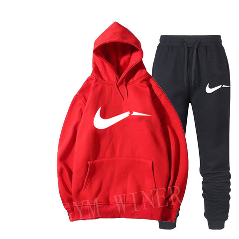 Winter Autumn Men Hoodie sweatshirt jacket+ joggers sweatpants man printing suits sportwear Tracksuit Fight Color Brand clothing Islamabad