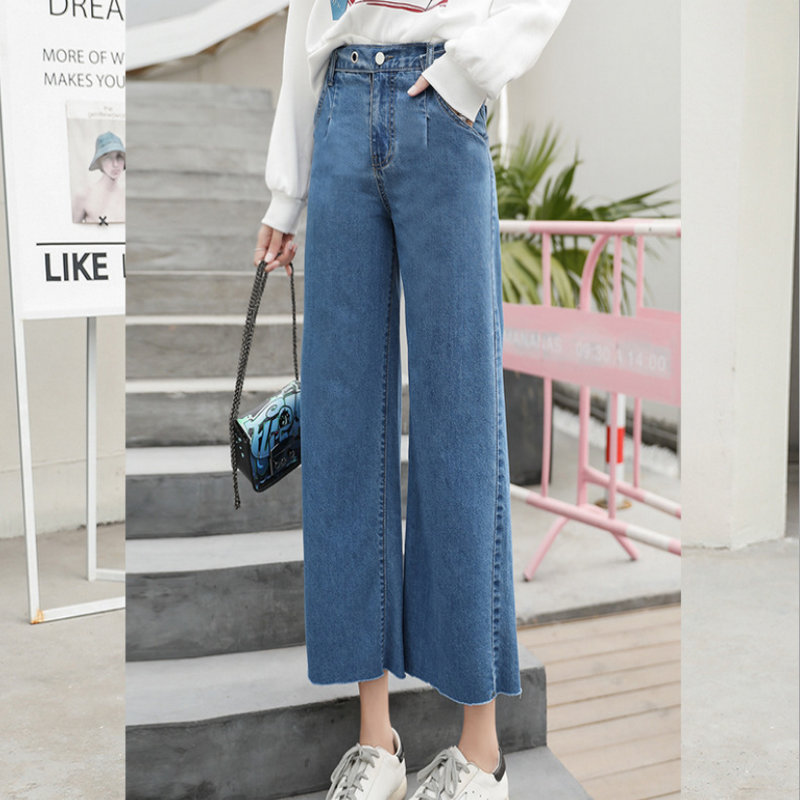 2020 Holiday Young Style Solid Woman Sexy Woman Baggy Jeans  Casual Pants  1049