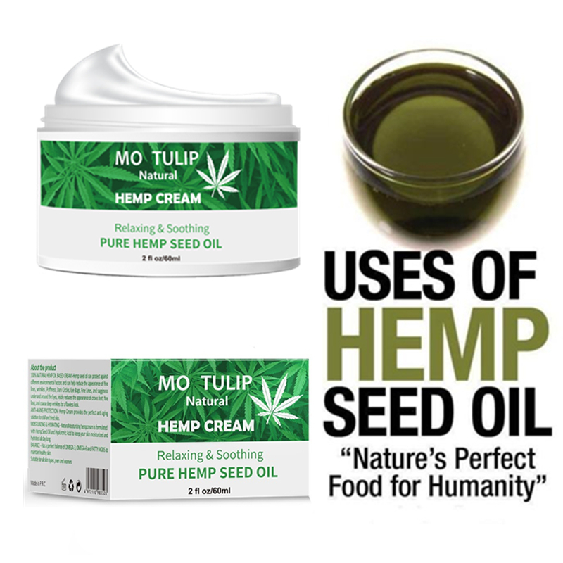 MOTULIP Hemp Oil 60ML Essence Face Cream Anti-aging Contain CBD Relieve Anxiety Moisturizer Nourishing Essence Skin Care
