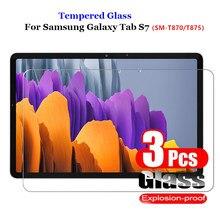 3 pçs vidro temperado protetor de tela para samsung galaxy tab s7 t870 t875 película protetora 9h vidro para tab s7 SM-T870 SM-T875