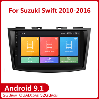 9 inch 2G+32G 2 din Android 9.1 for Suzuki Swift 2011-2016 Car Radio DVD Multimedia Player GPS Navigation Autoradio Head Unit image
