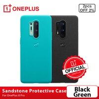 100% Original OnePlus 8 Pro, funda protectora de piedra arenisca de silicona/trasera para OnePlus 8 Pro