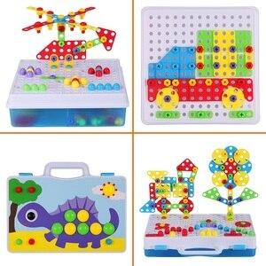Image 2 - Ensemble de perceuses pour enfants 15 styles, jouets assemblés bricolage, outils éducatifs, perceuse électrique Puzzle écrou à vis démontage tige, jouets pour garçons cadeaux