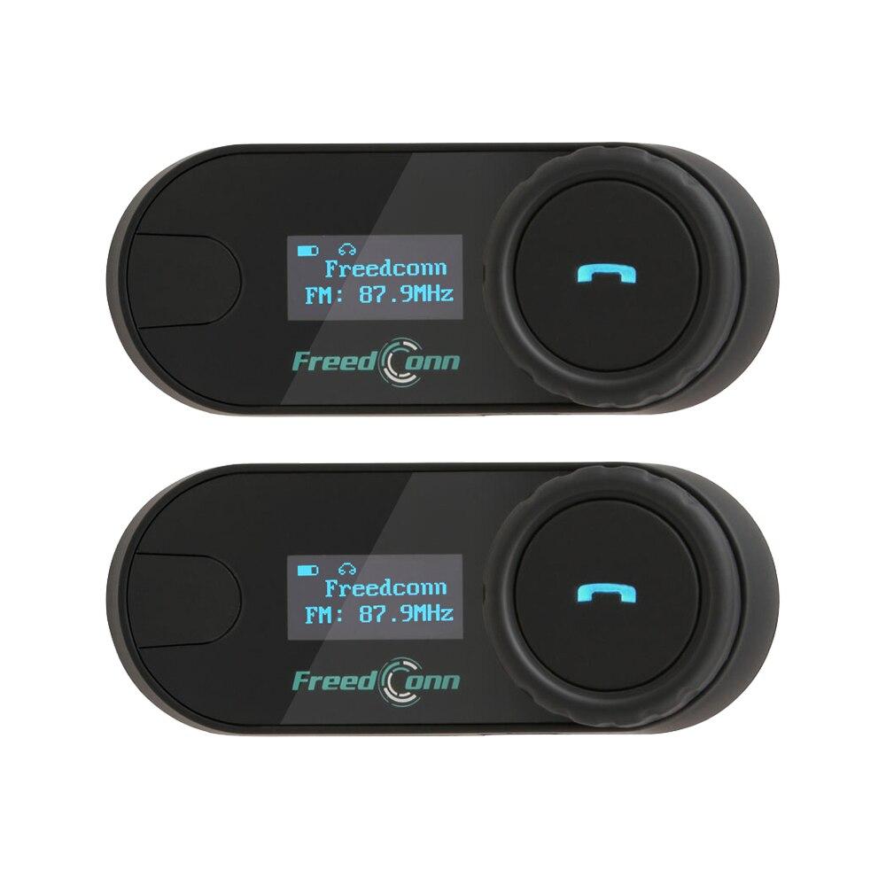2PCS Original FreedConn TCOM-SC BT Bluetooth Waterproof Motorcycle Helmet Intercom Interphone Headset With LCD Screen FM-Radio
