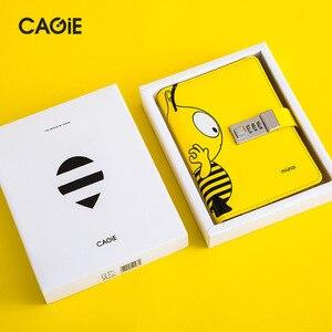 Image 3 - Kawai A6 מתכנן יומן עם מנעול דבורה מחברת הניתן לנעילה עור מפוצל פנקס נוסע יומן DIY סדר יום כתיבה ספר מתנות