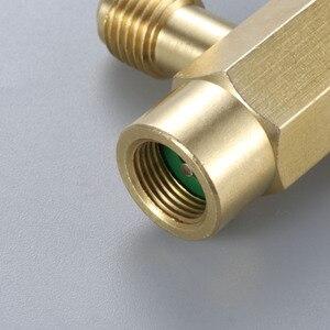 """Image 5 - R12 R22 R134a boîte conique distributeur pour nouvelle boîte auto scellante 7/16 28unf fil 1/4 """"SAE auto étanchéité réfrigérant décapsuleur"""