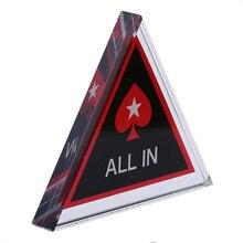 Профессиональный Кристалл Texas Hold'em все в Чип Покер охранные карты развлечения инструменты покерные фишки азартные игры украшения Аксессуары