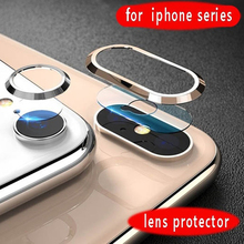 Metal Protective Ring + Tempered Glass For iPhone XS 11 Pro MAX XR X 8 7 6 s Plus Camera Lens Screen Protector Screenprotector cheap newteneight CN(Origin) Camera Len Film Apple iPhone iPhone 6 iPhone 6 plus iPhone 6s iPhone 6s plus IPHONE 7 IPHONE 7 PLUS