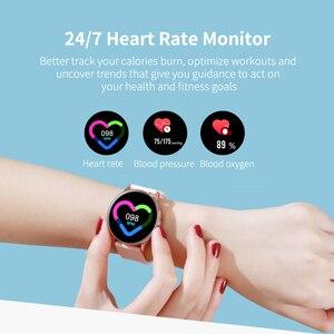 Image 2 - 2020 nova mulher smartwatch ip68 à prova dip68 água wearable dispositivo monitor de freqüência cardíaca relógio inteligente para android ios intelligentny zegarek