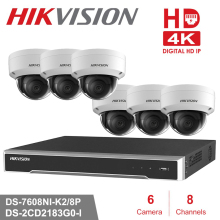 8CH Hikvision POE NVR Video Surveillance Kits with 6pcs 8MP IP Camera Network Security Night Vision CCTV Security System Kits