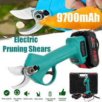 500W 48V Rechargeable Electric Pruning Scissors Pruning Shears Garden Pruner Secateur Branch Cutter Cutting Tool w/ 2x Battery
