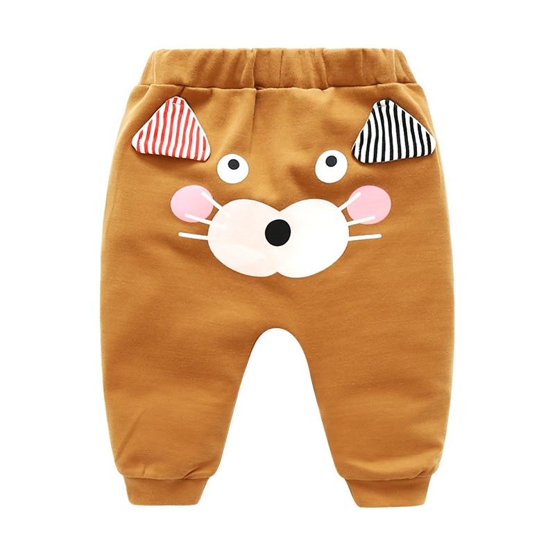 Baby Pants Soft-Jeans Toddler Girl Cartoon-Pattern Cotton Children Boy Hot-Selling