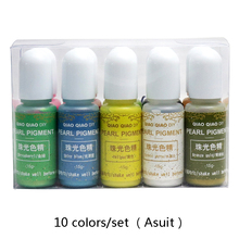 10colors/set Bsuit pearl resin dye Epoxy Resin Pigment UV Coloring Dye Colorant DIY Handmade Crafts Art Sets