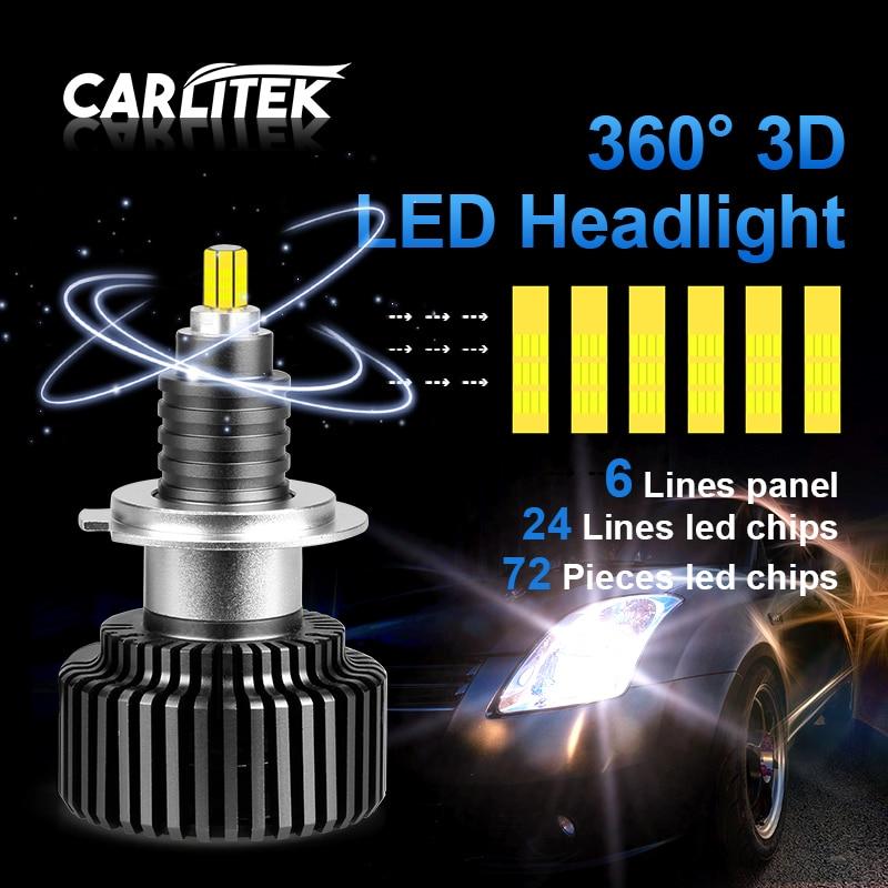 CARLitek 24 Sides H7 LED Bulb 50W h4 18000LM 12V Auto Light 72 PCS CSP Chips HB4 HB3 LED 9005 9006 car headlight H8 H11 led lamp