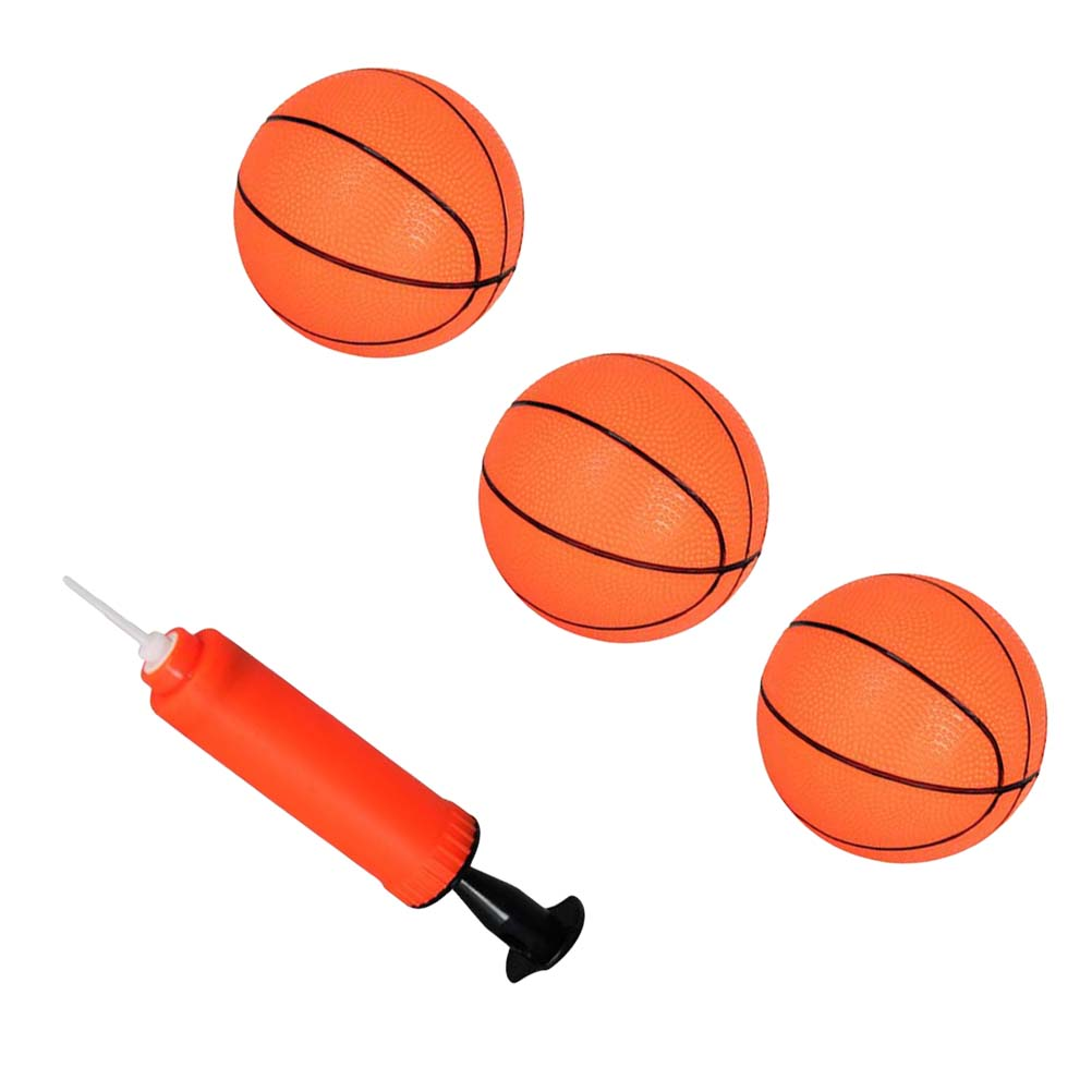 4pcs Sports Goods Set 3 Inflatable Mini Bouncy Basketball Sports Ball With One Inflator For Kids Children