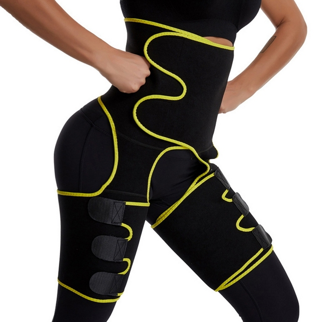Plus Size Waist Trainer Belt Women High Waist Body Shaper Leg Sweat Shapers Thigh Trimmers Adjustable Sauna Belt Hip Shapewear 1