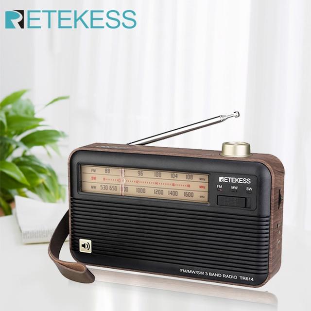 Радиоприемник RETEKESS TR614 FM/MW/SW