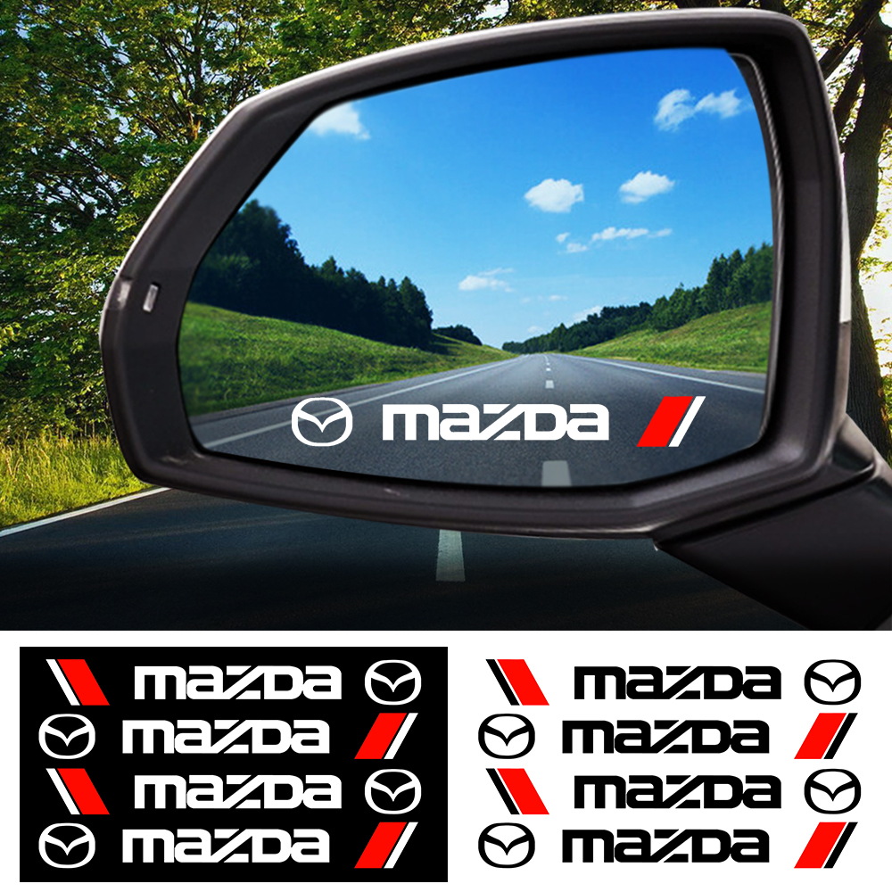 4 шт. Автомобиль дверная ручка Стикеры стайлинга автомобилей зеркало заднего вида наклейка на кузов автомобиля Стикеры для MAZDA 2 3 5 6 CX 3 CX 5 2019 2015 MX 5|Наклейки на автомобиль|   | АлиЭкспресс
