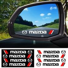 Autocollant de poignée de porte de voiture, 4 pièces, autocollant de style de voiture, de rétroviseur, de carrosserie, pour MAZDA 2 3 5 6 CX-3 CX-5 2019 2015 MX-5