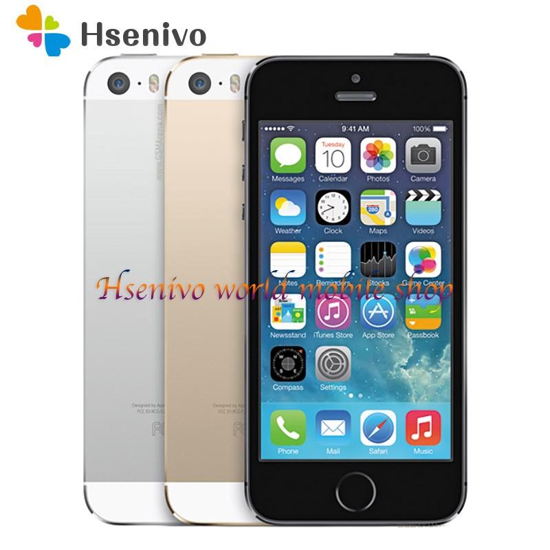 Apple iPhone 5S Dual Core 16GB/32GB/64GB ROM 1GB RAM 8MP Camera IOS Touch ID Factory Unlocked Original Cellphone free shipping|Cellphones| - AliExpress
