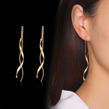 Vnox Trendy Long Twisted Line Earrings for Women Party Jewelry Gold and Color Stainless Steel Dangle.jpg 350x350 - Vnox Trendy Long Twisted Line Earrings for Women Party Jewelry Gold and Color Stainless Steel Dangle Earring Gifts
