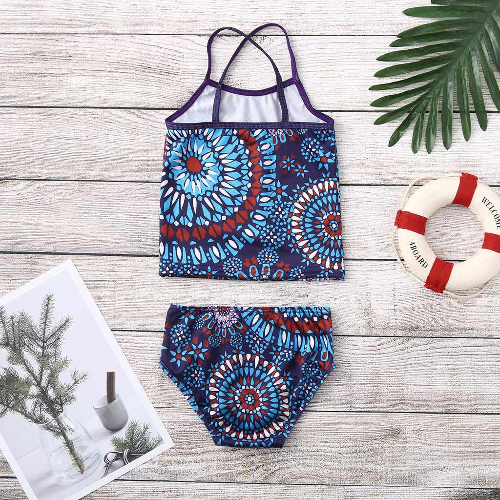Bañador para niños playa deporte 2 piezas Tankini Banded Swimsuit Bikini Set bañador para adolescentes L1204