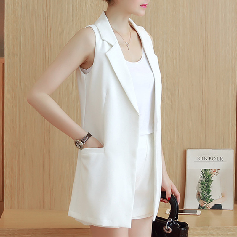 Vest For Women Sleeveless Jacket Coat Long Vest Blazer Formal Work Ladies Office Vintage Slim Suit Waistcoat Female Plus Size 6