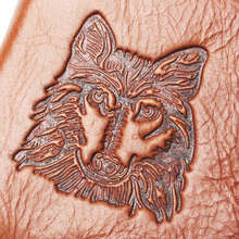 New Coin Purse Cheap Mens Wolf Head Style Wallet Genuine Leather Coin Purse For Men Card Holder Strong Wallet