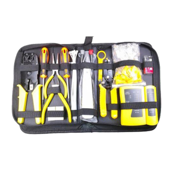 23Pcs Network Repair Tool Kit Wire Cutter Screwdriver Pliers Crimping Maintenance LAN Cable Tester Tool Sets Drop Shipping crimping tool kit ls k03c with cable cutter
