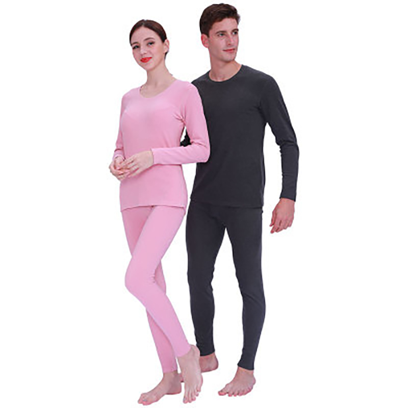 Winter Thermal Underwear Woman Wool Matte Long John Women's Suit Men's Thick Thermal Women's Wool Two Sets