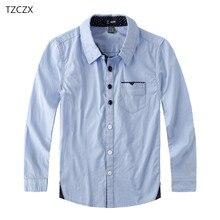 Лидер продаж, Детские рубашки для мальчиков, хлопок, однотонные Детские рубашки, одежда для От 4 до 12 лет, школьная одежда