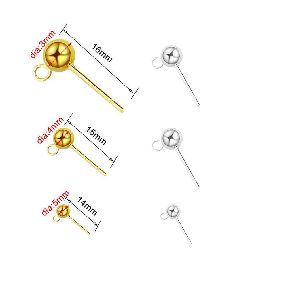 Купить серьги гвоздики из серебра s925 пробы шарики шармы «сделай сам»
